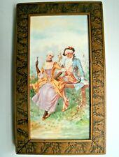 Vintage Victorian Tile Wood Frame Art
