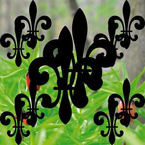 2 Sets schwarz Lilie Kurani Lilien Fleur de Lis Aufkleber Tattoo Deko cut Folie