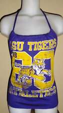 Ladies LSU Tigers Reconstructed T Shirt Gameday Halter Top Purple DiY