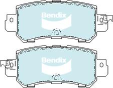 Brake Disc Pad Set Rear Bendix DB2227 4WD For MAZDA CX-3 DK CX-5 KE