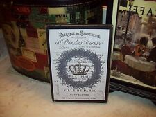 Lavender wreath crown sign block shabby French vintage chic Paris wall decor