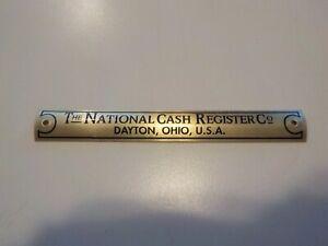 National Cash Register Brass Curved Base Tag NCR