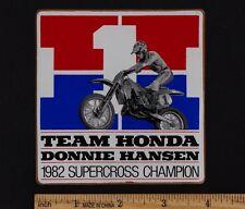 1982 TEAM HONDA DONNIE HANSEN RC250 SUPERCROSS STICKER CR250R CR125R CR480 CR250