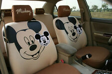 ** 10 Piece Brown Big Mickey Mouse Car Seat Covers **