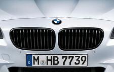 BMW 5 Series F10 Sedan Black Grills New, OEM,  The Pair of 2, F10 2011 and newer