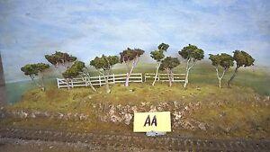 Model Trees Australian Gums Layout ready NSWGR QGR  train rail HO OO N  lot 70M