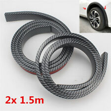 "2.5"" Wide Car Wheel Fender Flares Strip Rubber Trim Protector Universal 2x 59"""
