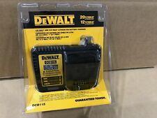 DEWALT DCB115 12V 20V Max Li-Ion Charger 20 Volt Rapid Brand New in Retail Pack.