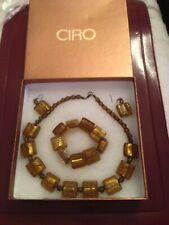 4 piece necklace set vintage 'Ciro' amber look