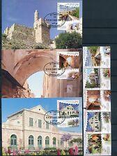 ISRAEL 2016 JERUSALEM SITES 5 MAXIMUM CARDS + FDC's + STAMPS MNH