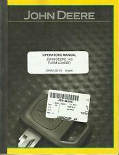 John Deere 143 Farm Loader Tractor Omw21356 C6 Operators Manual