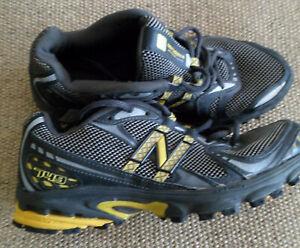 UK made, size 8 NEW BALANCE Running / Training shoe Gray with Yellow VGUC