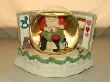Santa's Toy Shop Snow Globe / Music Box Water Wonders United Merry Christmas
