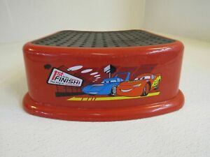 Ginsey 1-Step Disney Cars Step Stool The King Lightning McQueen