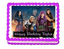 Disney Descendants 2 party edible cake image cake topper frosting sheet