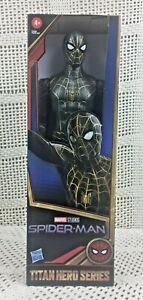 Marvel Spider-Man Black & Gold Suit Titan Hero Series Action Figure NEW