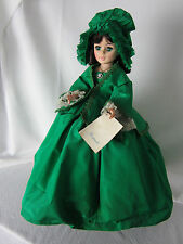 Madame Alexander Doll Scarlett 21 In 1975 GWTW Green Taffeta Dress Bonnet Lace