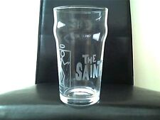 The Saint Novelty Engraved Etched Pint   Beer Glass