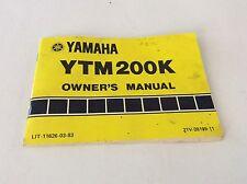 Yamaha Ytm 200K Owners Manual