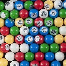 Bingo Balls With Window 7/8 Inch in Diameter