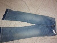 Women's Size 00/24R Mossimo Denim High Rise Wide Leg Super Stretch Jeans NEW B14