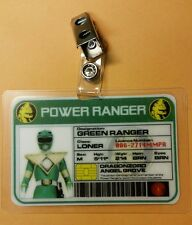 Power Ranger  ID Badge-Green Ranger  cosplay costume