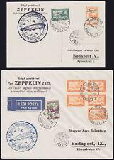 LZ127 Graf Zeppelin 1931 UNGARNFAHRT Budapest Rundfahrt Karte+ Brief Sieger 102A