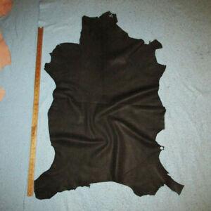 Dark Gray Crafting Goatskin Leather Hide