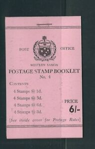 SAMOA 1965-67 6 shilling BOOKLET (SG SB9) VF MNH