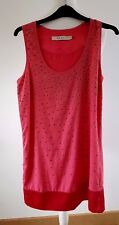 Reiss coral pink metal beaded summer holiday Cocktail short dress size 8 UK