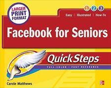 Facebook for Seniors QuickSteps, Matthews, Carole, Good Condition, Book