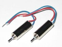 2 X Ultra Light Micro Motor - 10 mm Long x 4 mm Diameter - 10000 RPM - 1.5 V DC