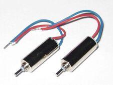2 X Ultra Light Micro Motor - 10 mm Long x 4 mm Diameter - 10000 RPM - 1.5 V DC
