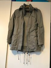 Ladies Size 8 Grey Parka Style Jacket With Hood
