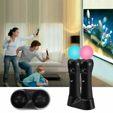 VR Motion Controller Playstation Move Controller Dual Charger Dock for PS3 / PS4