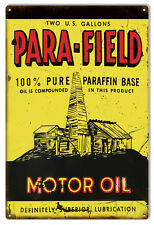 Para Field Motor Oil Reproduction Metal Sign 12x18