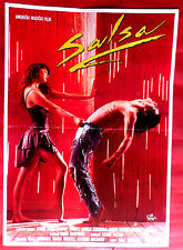 SALSA 1988 MUSIC ROBBY ROSA RODNEY HARVEY BOAZ DAVIDSON RARE EXYU MOVIE POSTER