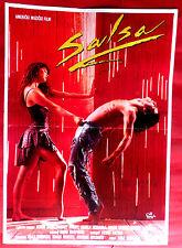 SALSA 1988 MUSIC ROBBY ROSA RODNEY HARVEY BOAZ DAVIDSON RARE EXYU MOVIE POSTER