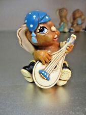 "Pendelfin Rabbit Made In Engl""Casanova"" with Blue Hat Chalkware Great Britian Kh"