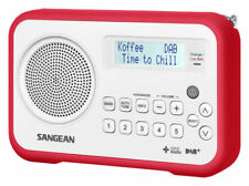 DPR67WR SANGEAN DAB+/FM Portable Radio White & Red Trim Rechargeable
