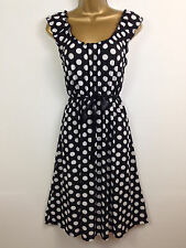 New Pistachio Black Polka Dot Summer Holiday Wedding Dress Races UK Size 16
