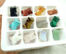 Beautiful Hand-carved a bird of Minerva Mixed agate PENDANT GEMSTONE LOOSE beads