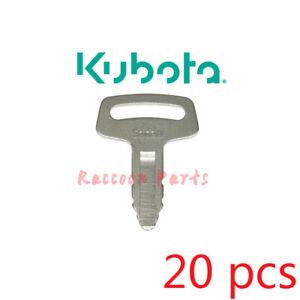 20pcs fits Thomas Skid Steer 53630 Excavators Loaders Kubota IGNITION KEY