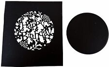 Happy Birthday Window word cutting stencil set fancy die Elegant scrapbook