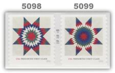 5098-99 5099 5099a Star Quilts (25) Pair Presorted First Class 2016 MNH -Buy Now