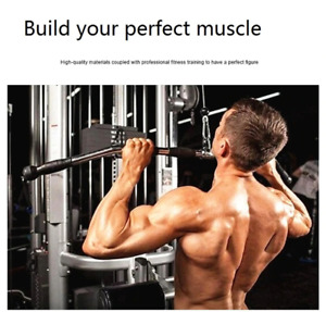 Bodybuilding Cable Attachment Bar LAT Pull Down Bar with Nonslip Rubber Handgrip