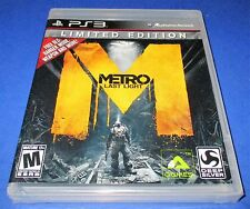 Metro: Last Light -- Limited Edition w/ Bonus DLC!   PS3 *New-Sealed-Free Ship!