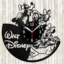Walt Disney Cartoon Vinyl Record Wall Clock Decor Handmade 1582