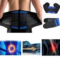 Compression Back Brace Lumbar Waist Hip Support Belt Sciatica Nerve Pain Relief