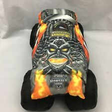 "Monster Jam Truck Black Orange Yellow Tom Meents Pillow Plush 12"" Toy Lovey"